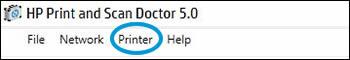 نرم افزار HP Print and Scan Doctor